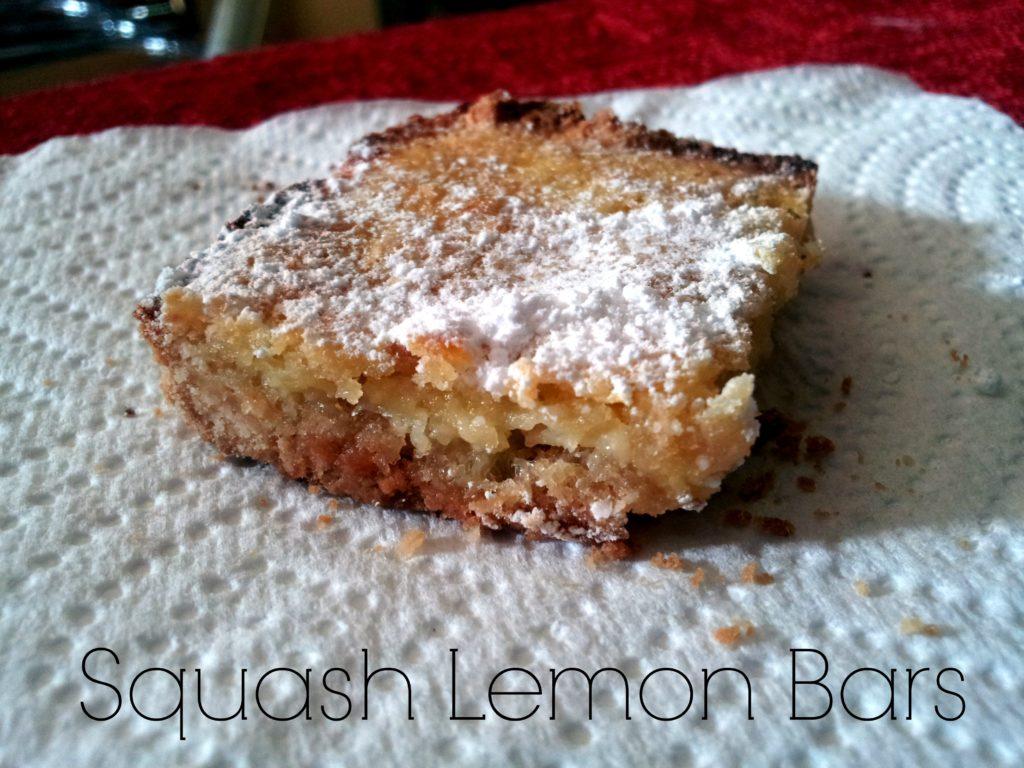 squash lemon bars