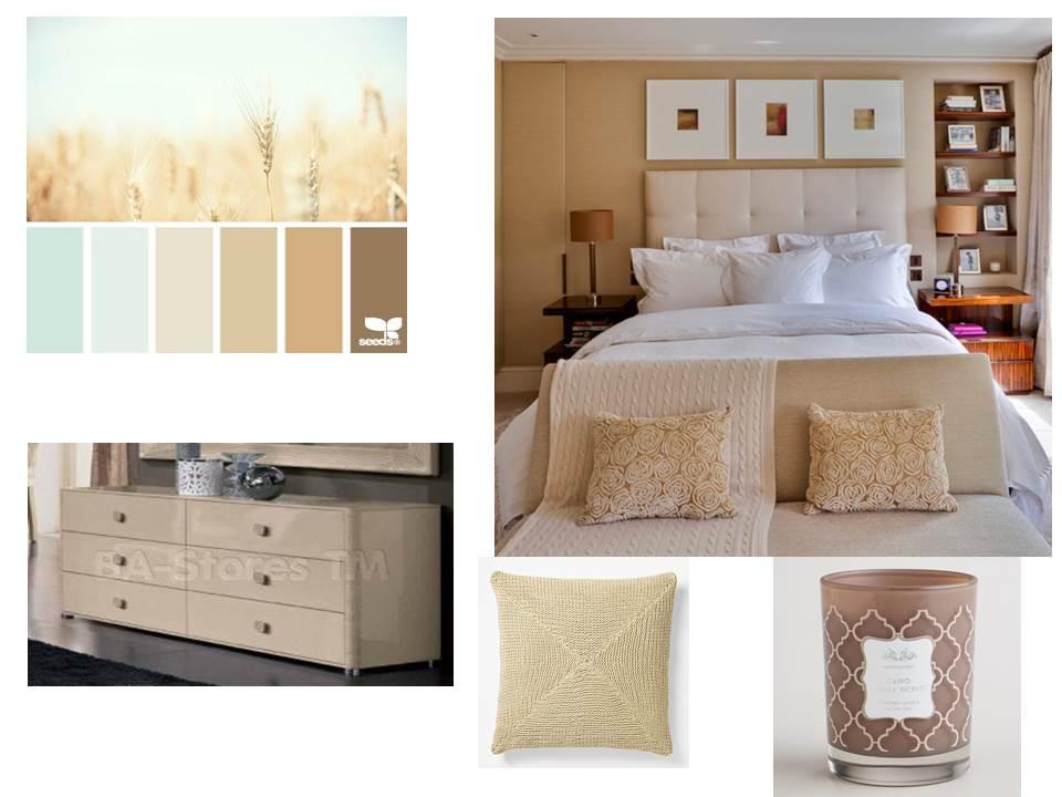 bedroom palette cream white