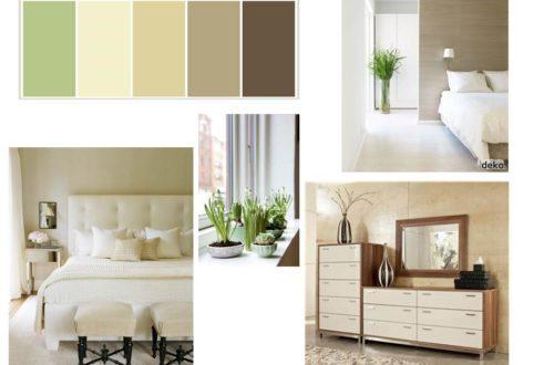 Bedroom Palette GreenBrown